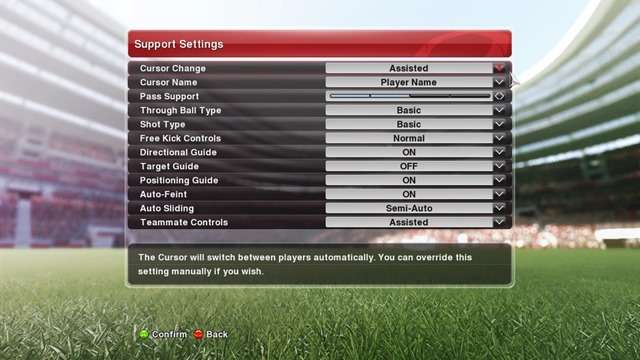 setting shot and pass pes 2014